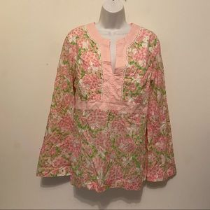 Vintage Lilly Pulitzer Floral Cotton Tunic SizeXL